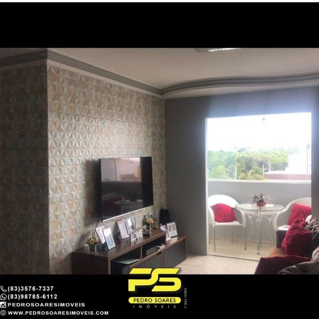 Apartamento com 4 dormitórios à venda, 96 m² por R$ 230.000 - Água Fria - João Pessoa/PB - Foto 6