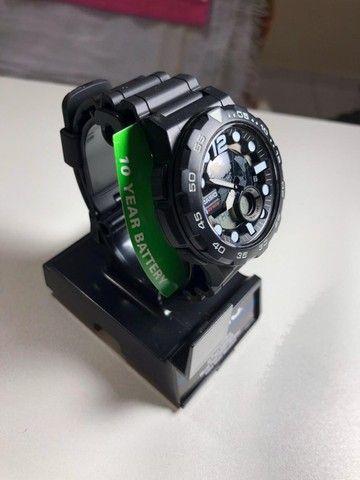 Relógio Casio Aeq 100w Comprado nos E.U.A - Foto 2