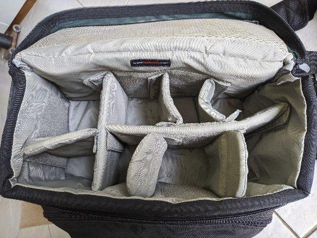 Bolsa fotografica profissional LowePro Nova 5 AW com acessorios originais - Foto 4