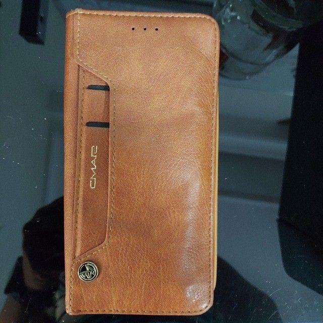 ´capa celular samsung s7 edge com porta cartões - semi novo - única unidade - Foto 4
