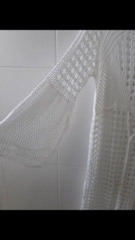 Saída de praia em tricô (Branca) - Foto 4