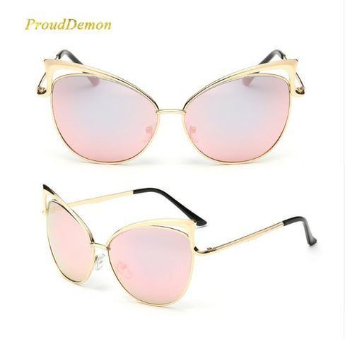 42d9e780a0db5 Óculos de sol feminino olho de gato de luxo 2018 - Bijouterias ...
