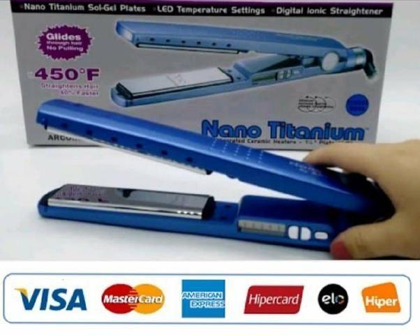 60cc38adf Prancha Nano Titanium 230ºc Bivolt Chapinha 1/4 Até 450ºf - Beleza e ...