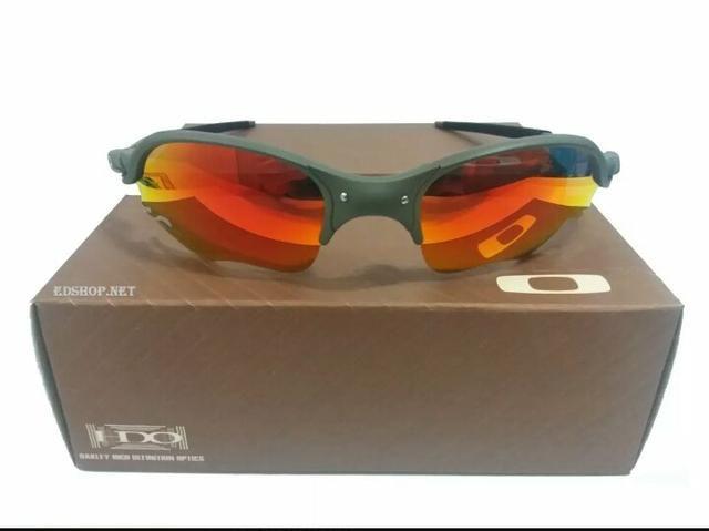 65a5de27e Óculos Oakley Romeo 2 xmetal Ruby Lente Flame Polarizado Novo Frete grátis