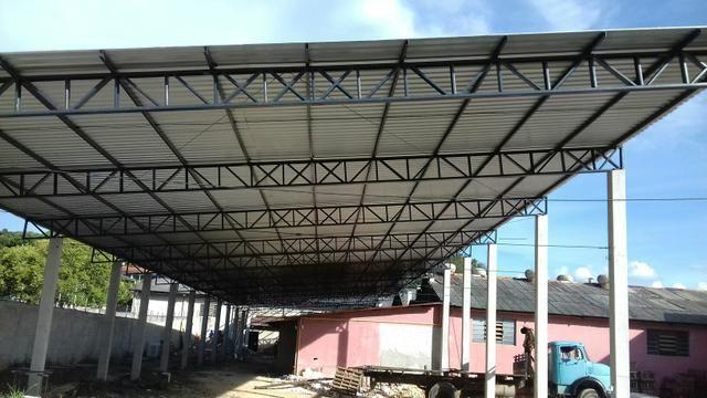 Barracão pré-moldados de concreto, galpões, granjas, estruturas metálicas - Foto 6