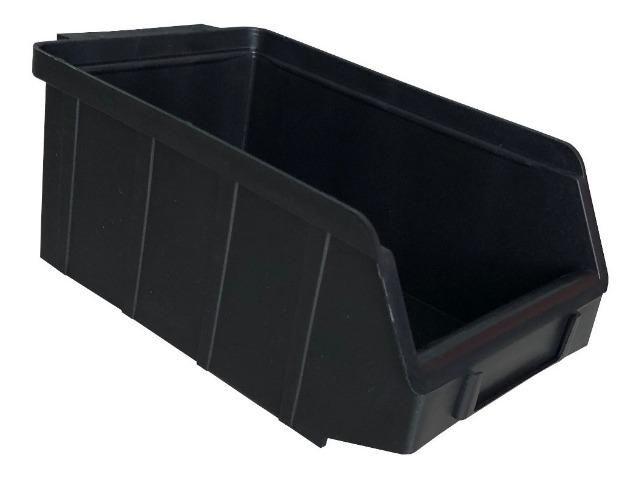 Gavetas Nº3 Preto/Azul Plástico Usadas Bom Estado Estante Gaveteiro Organizador Empilhável - Foto 5