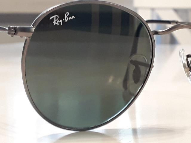 Óculos Ray Ban Round Original Seminovo - Foto 2