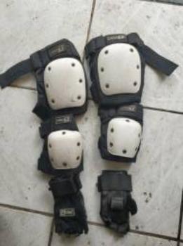 Patins/roller de manobras + equipamentos de segurança - Foto 2