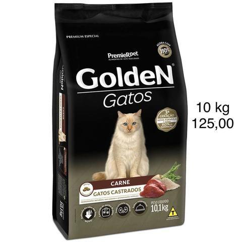 Ração Golden Gatos CASTRADOS CARNE 10 kg