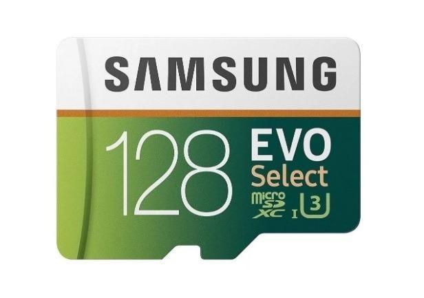 Última Unidade* !! Cartão de memória Micro SD Evo Select 128 Gb 4K Samsung