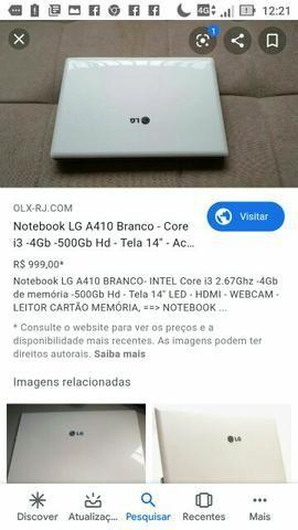Troco notebook LG por mesa com cadeiras