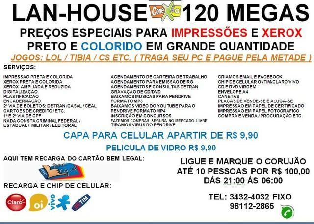 Lan-house Conex@o faça aqui sua copias e impressões e economize