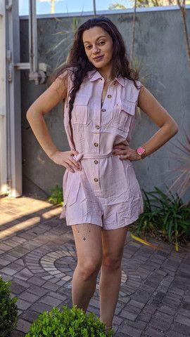 Macacão curto roupas femininas - Foto 3
