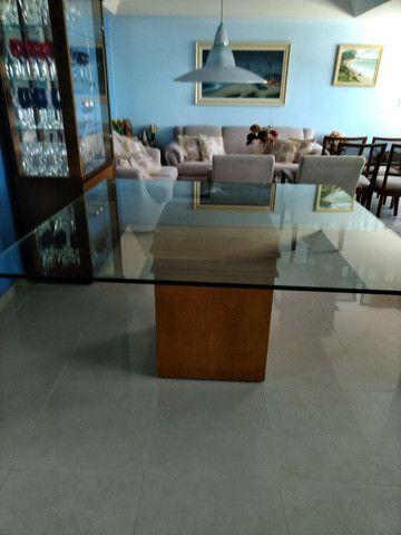 Mesa quadrada tampo de vidro 1,50 X 1,50  espessura do vidro 10 mm - Foto 4