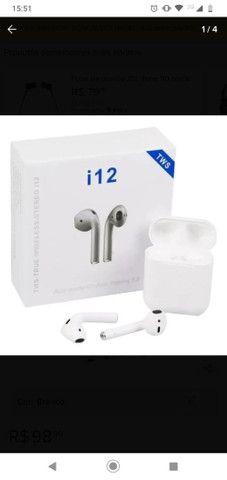 Fone de ouvido Bluetooth  novo