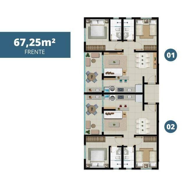 Apartamento 2 qtos, NOVO, Setor Sudoeste, 67 mts - Foto 7