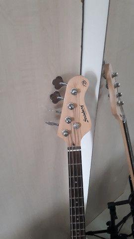 Contra Baixo Strinberg Passivo 4C CAB-16 + amplificador impact bass CB60 - Foto 2