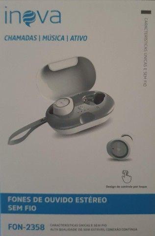Fone De Ouvido Bluetooth Sem Fio Estereo Botão Touch - Foto 3