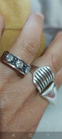 Aneis de prata pura