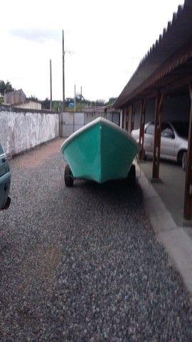 Barco batera bote lancha de fibra  - Foto 11