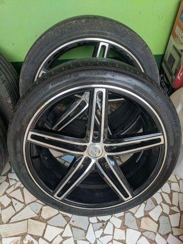 Roda + pneu aro 20 CRUIZER e TRACKER 5x105 - Foto 4