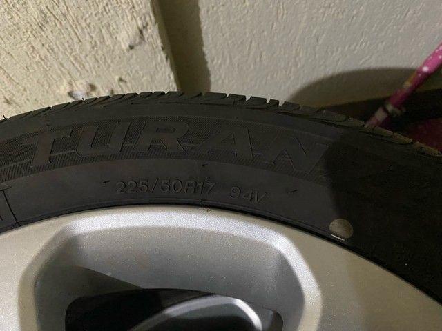 Jogo de roda cruze 17 + pneu turanza - Foto 4