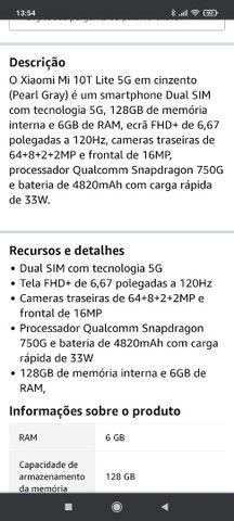 Mi 10 T-128 gb+GB de memória ram - Foto 4