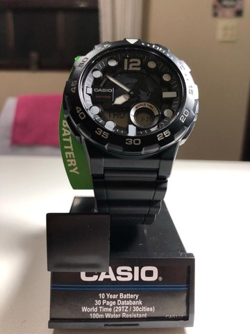Relógio Casio Aeq 100w Comprado nos E.U.A - Foto 5