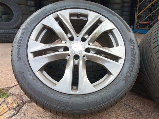 Jogo de roda e pneus praticamente zero aro17 Mercedes 180 - Foto 3