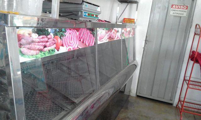 Balcão ,expositor e geladeira de açoque seminovos
