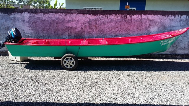 Barco batera bote lancha de fibra  - Foto 9
