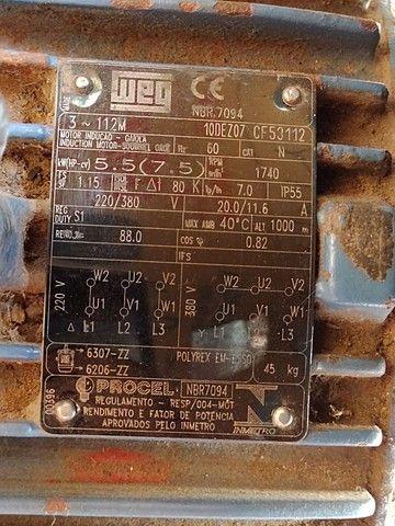Motor Weg 4 polos 7,5 CV  380 trifásico