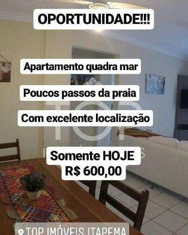 Apartamento quadra do mar