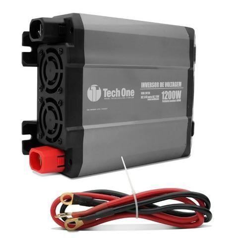 Inversor 1200w 12v Para 220v Conversor Tomada E Usb Techone