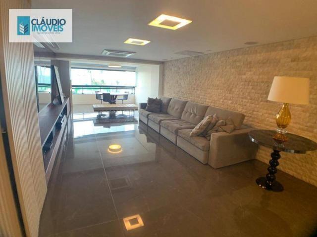 Apartamento com 4 dormitórios à venda, 203 m² por r$ 1.600.000 - jatiúca - maceió/al - Foto 2