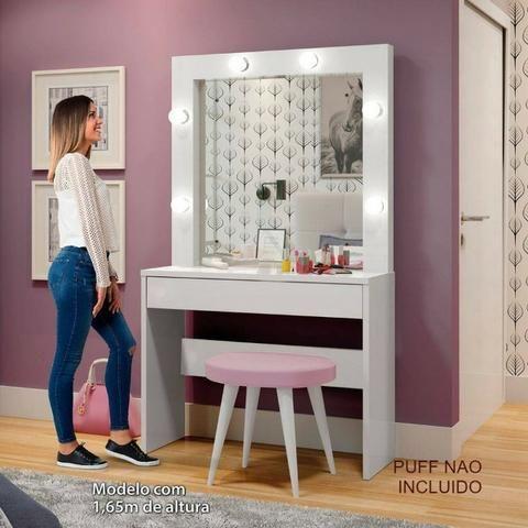 Penteadeira Camarim com Espelho Romance Faça seu pedido e pague na entrega - Foto 3
