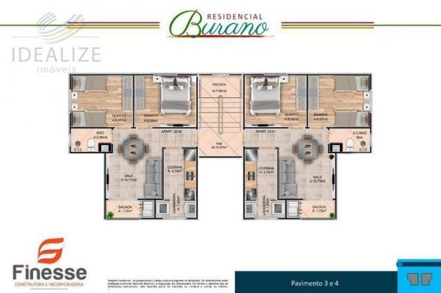 Apartamento à venda com 2 dormitórios em Afonso pena, São josé dos pinhais cod:1726522 - Foto 11
