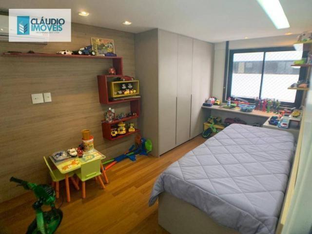 Apartamento com 4 dormitórios à venda, 203 m² por r$ 1.600.000 - jatiúca - maceió/al - Foto 16