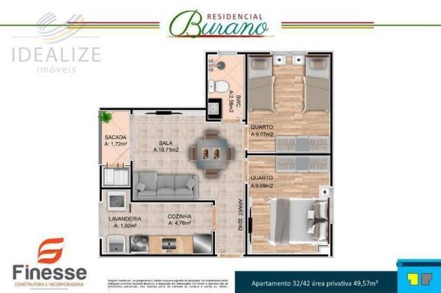 Apartamento à venda com 2 dormitórios em Afonso pena, São josé dos pinhais cod:1726522 - Foto 10