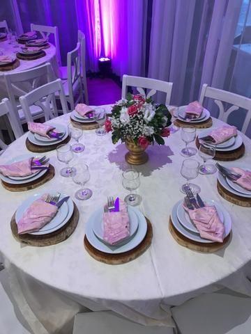 Vendo 190 guardanapos adamascado rosa seco - Foto 2