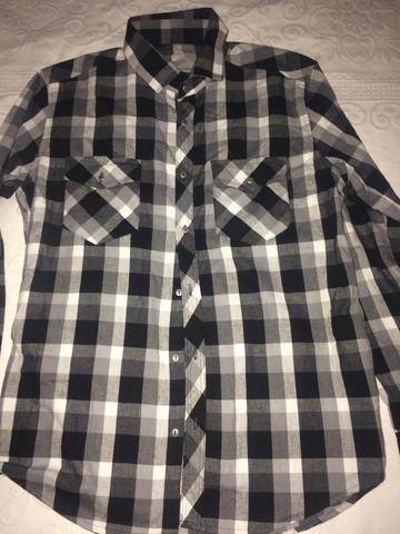 Camisa Dkny TAM 3 azul claro slim - Foto 3