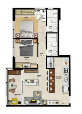 Lançamento - Duetto Barra - Apartamentos de 1 e 2 quartos Vista Mar na Barra - Foto 7