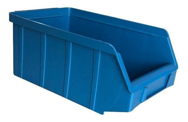 Gavetas Nº3 Preto/Azul Plástico Usadas Bom Estado Estante Gaveteiro Organizador Empilhável - Foto 4