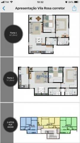 Apartamento com 2 quartos à venda, 67 m² por r$ 191.500 - vila rosa - goiânia/go - Foto 2