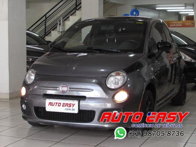 Fiat 500 Sport Air 1.4 C/ Couro! - Foto 16