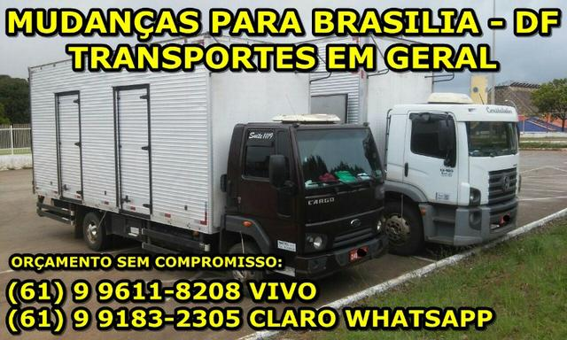 Mudança e frete em geral para Brasília DF frete econômico