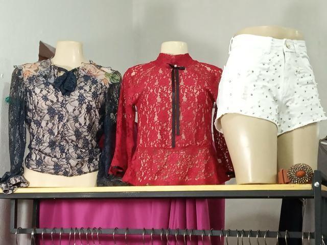 100 peças de roupas usada e novas para revenda - Foto 6