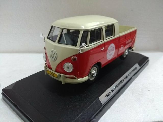 Miniatura Volkswagen Kombi Pickup Coca cola - Foto 3