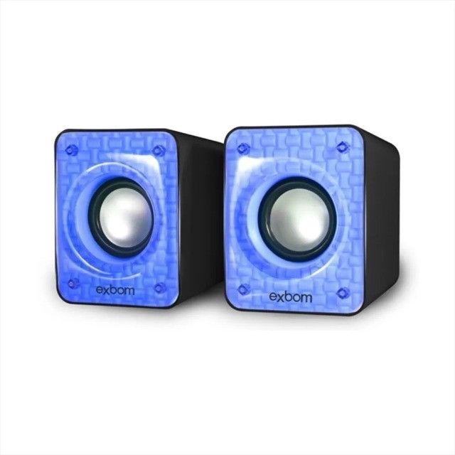 Caixa De Som Para Pc E Smartphone 6w C/bass USB - Loja Natan Abreu - Foto 2