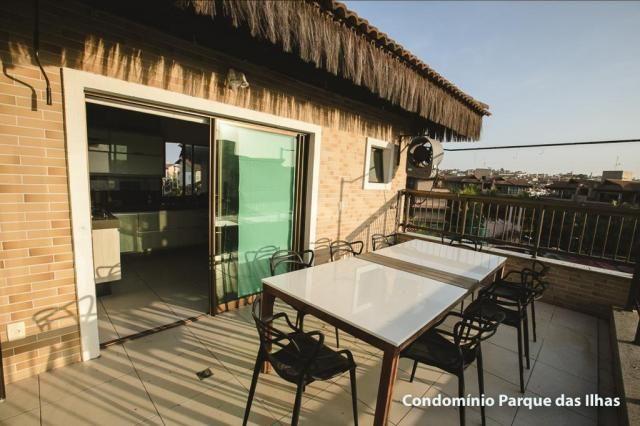 Vendo linda cobertura duplex no parque das ilhas(Porto das Dunas) 164m, toda projetada, po - Foto 11